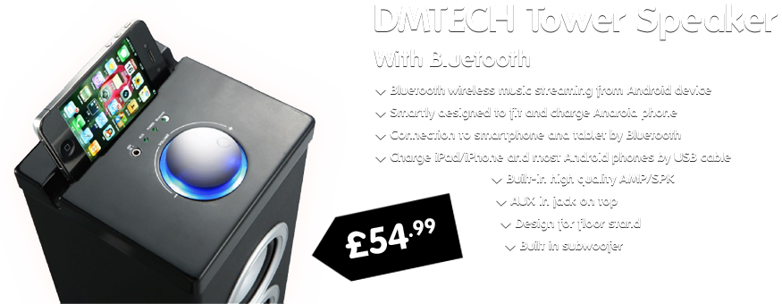 DMTECH Tower Speaker with Bluetooth