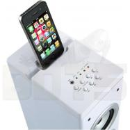 Dmtech Tower Speaker with iPad/iPod/iPhone Dock - White